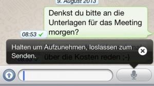 WhatsApp-Sprachnachrichten