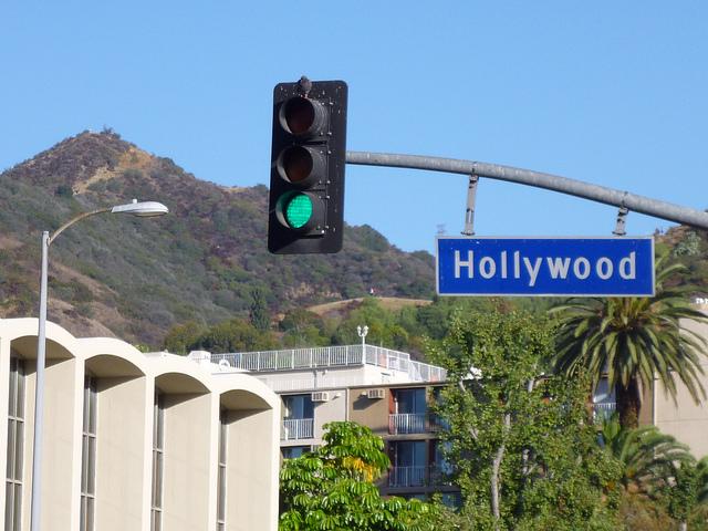 Hollywood Straßenschild