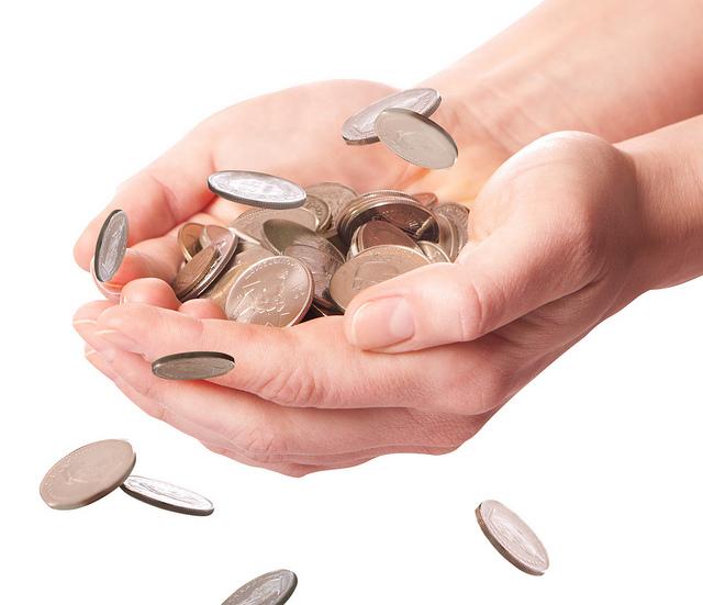 Bild mit Kleingeld