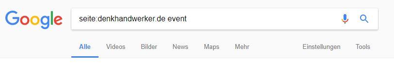Website ohne Suchfunktion durchsuchen